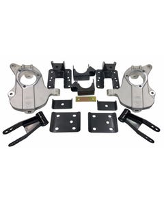 """2016-18 Chevy Silverado Lowering Kit 2""""/4"""" Forged Aluminum Spindles W/Shackles Flip"""