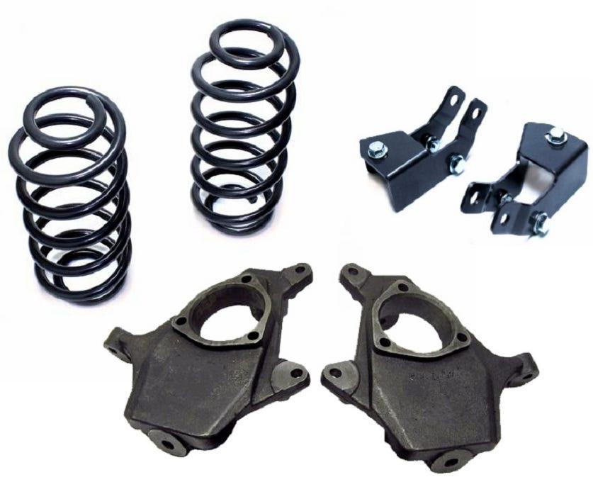 """2007-2014 Yukon Tahoe 2/""""-4/"""" Lowering Drop Coil Spring Shock Ext Kit"""