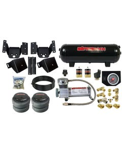 No Drill Air Helper Kit W/Compressor & Tank Fits 2018-19 Chevy Silverado 2500 3500