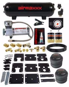 Air Tow Assist Kit No Drill 99-06 Chevy Silverado 1500 Compressor Tank Wht Gauge