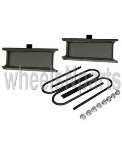 "3"" drop rear axle kit fabricated steel blocks ubolts for 1999-2014 import truck"