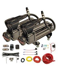 Airmaxxx X-Series Air Compressor Dual Pack Fast 200 PSI 2.2 CFM Black w/Wire Kit-none
